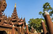 Ancient Burmese Wooden Temple