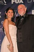 Jamie-Lynn Sigler and Dominic Chianese in the press room at the 59th Annual Primetime Emmy Awards. The Shrine Auditorium, Los Angeles, CA. 09-16-07