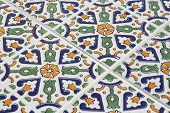 Tunisian Style Tile Pattern - Background