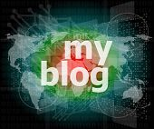 My Blog - Green Digital Background - Global Business Internet Concept