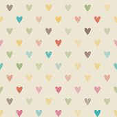 Valentine Colorful Retro Seamless Hearts Pattern