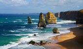picture of 12 apostles  - closeup of dramatic beautiful 12 apostles in Australia - JPG