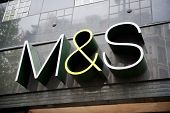 Marks and Spencer store sign in London