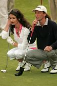 Catherine Zeta-Jones and Kenny G at The 9th Annual Michael Douglas and Friends Celebrity Golf Event.