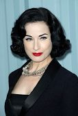 Dita Von Teese  at the 2007/2008 Chanel Cruise Show Presented by Karl Lagerfeld. Hanger 8, Santa Mon