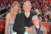 Martin Landau and family at the World Premiere of