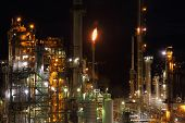 Oil Refinery Night