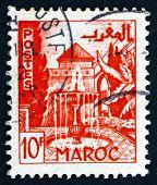 Postage stamp Morocco 1949 Garden, Meknes