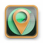 Flat icon pointer map marker