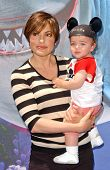 Mariska Hargitay and her son August at the Opening of Disneyland's