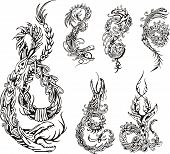 Stylized Dragon Tattos