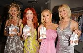 Anita Seelig and Phoebe Price with Katie Lohmann and Rena Riffel at the launch of Phoebe's Phantasy