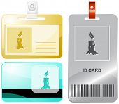 Candle. Raster id cards.