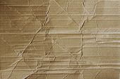 Closeup of brown cardboard texture
