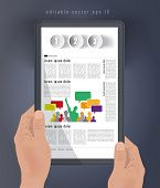 Magazine layout. Tablet presentation, Vector