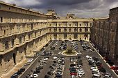 Car Parking In The Courtyard Of The Vatican