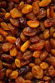 Diet Healthy Food. Raisin Dried Grape As Background Texture