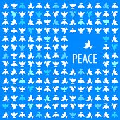 Idea concept - poster - for peace. Vector pattern.