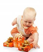 Small child with gifts
