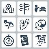 Travel Related Vector Icons Set