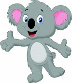 image of koalas  - Vector illustration of cute koala cartoon posing - JPG