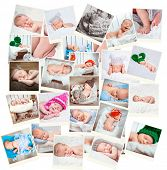 Collaction of a sweet newborn babies photos