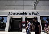 LAS VEGAS, NEVADA - FRI. JUNE 27, 2014:  Shoppers walk past an Abercrombie & Fitch store in Las Vega