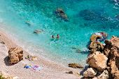 gorgeous mediterranean beach in summer