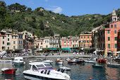 PORTOFINO, ITALY - MAY 04, 2014: Portofino is an Italian fishing village famous for its picturesque