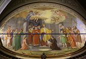 PORTOFINO, ITALY - MAY 04: Fresco in Church of St. Martin in Portofino in the province of Genoa, in