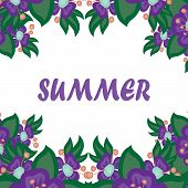 beautiful card with the word summer