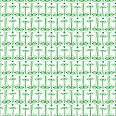 Seamless Pattern With Silhouettes Of Leaves On Stems