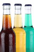Drinks With Cola And Lemonade In Bottles