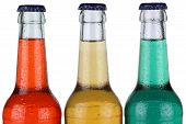 Colorful Soda Drinks In Bottles Isolated