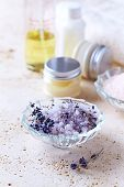 Lavender Bath Salt and Natural Cosmetics