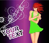 Modern Party background. Template vector flyer for party