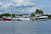 DOLGOPRUDNY, MOSCOW REGION, RUSSIA - JULY 4, 2014: First day of 5th Yachts and Boats Fair