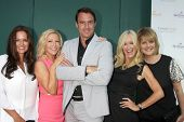 LOS ANGELES - JUL 8:  Tanya Memme, Kym Douglas, Mark Steines, Sophia Uliano, Cristina Ferrare at the