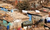 Shanty town image.