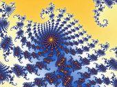 Decorative fractal background with spirals.