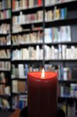 Small Library With Candle