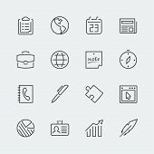 Business Related Vector Icons Set, Thin Line