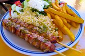 pic of souvlaki  - Souvlaki a typical food of greece cos - JPG