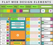 Web Design elements, buttons, icons