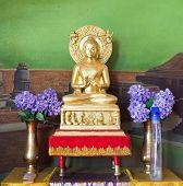 Buddha Statue At  Wat Thai Bodhigaya ,india