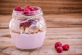foto of yogurt  - Breakfast mix - JPG