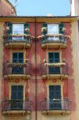 SANTA MARGHERITA, ITALY - MAY 04: Colorful painted buildings in Santa Margherita Ligure is a comune