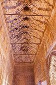 Alhambra Courtyard Corridor Moorish Wall Designs Granada Andalusia Spain