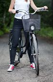 Woman Ready For Bicycle Trip