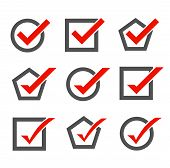 Set of check mark icons